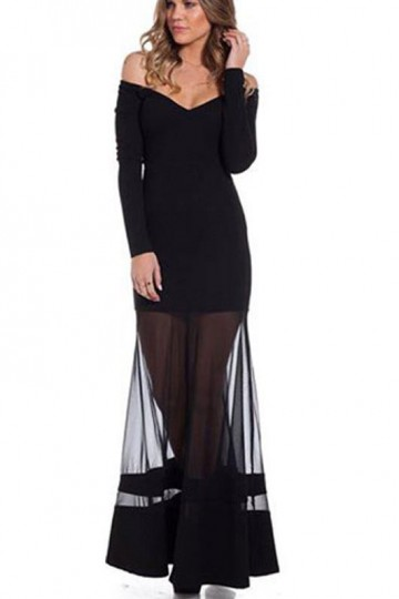 Robe de soiree voile transparent