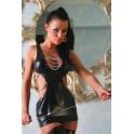 Mini robe wetlook hot domina à chaines