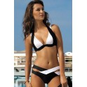 Sexy bikini push-up bande bicolore